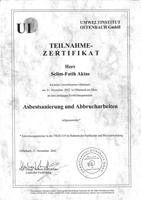 Asbestsanierung-Abrucharbeiten-Zertifikat
